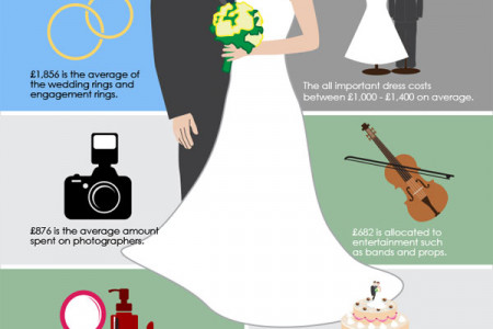How a Wedding Budget is Spent Infographic