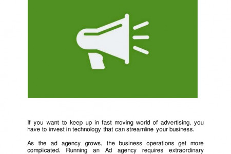 How ad agencies can run and manage with salesforce Infographic