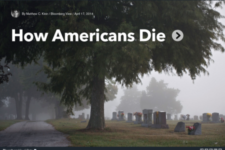 How Americans Die Infographic