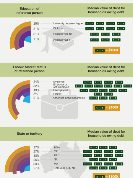 Distribution of Australian Credit Card Debt 2010 Infographic