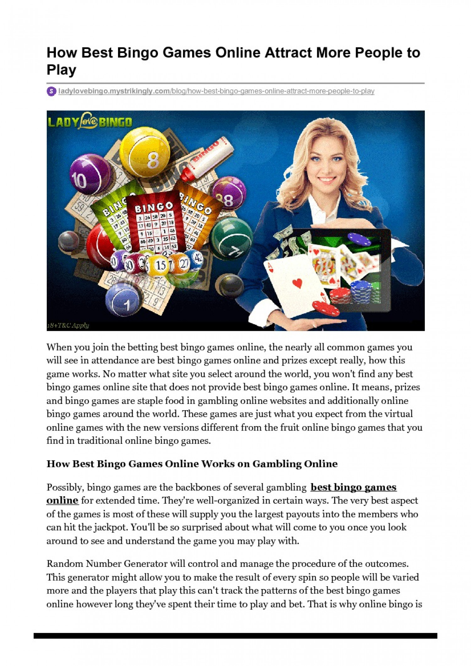 How Best Bingo Games Online Attract More People to Play Infographic