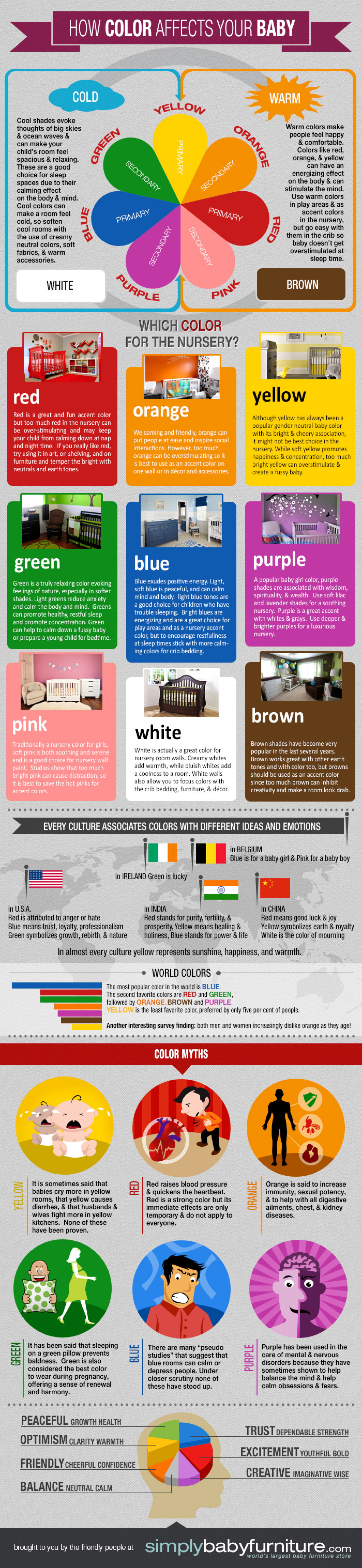 how color affects your baby 39 s mood infographic