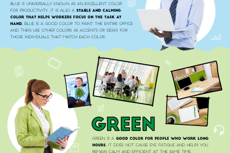 How Colors Affect Office Productivity Infographic