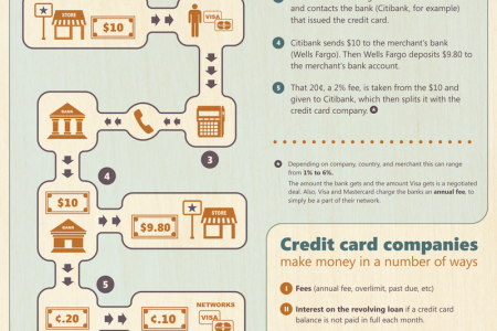 How credit card companies Make Money? Infographic
