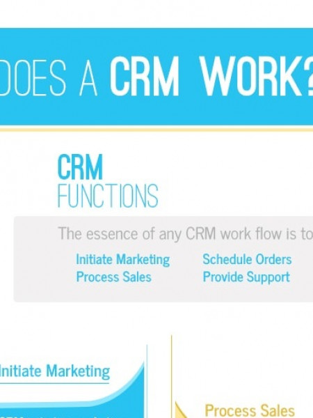 How CRM system works? Infographic