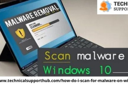 How do I scan for malware on Windows 10 Infographic