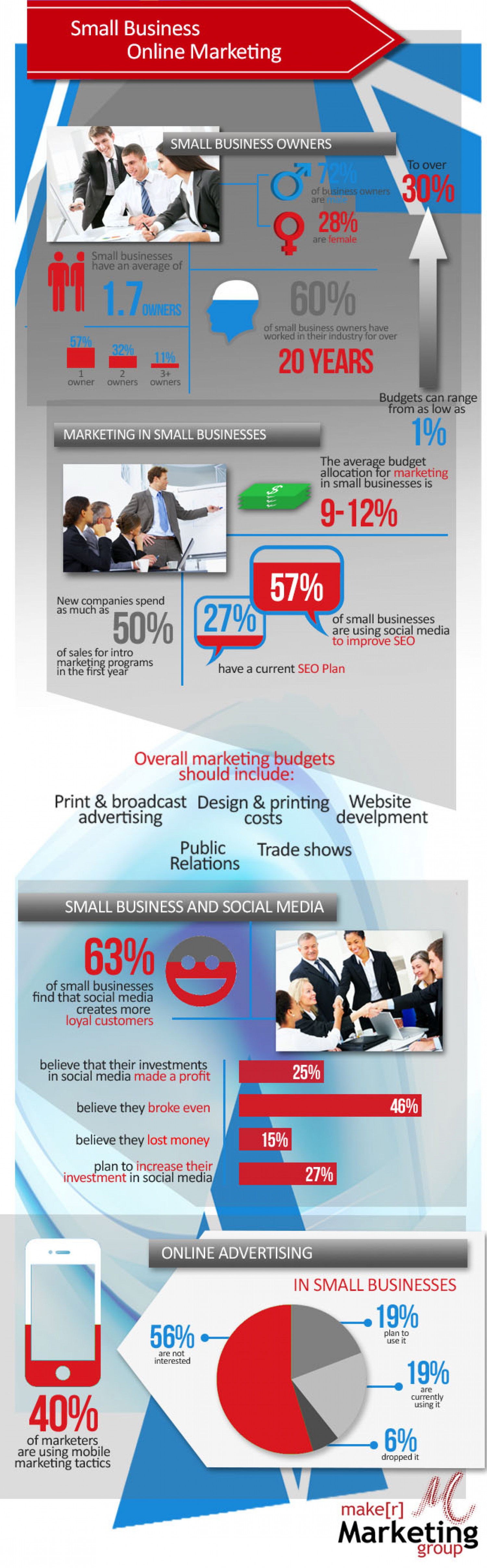 Small Business Online Marketing Infographic