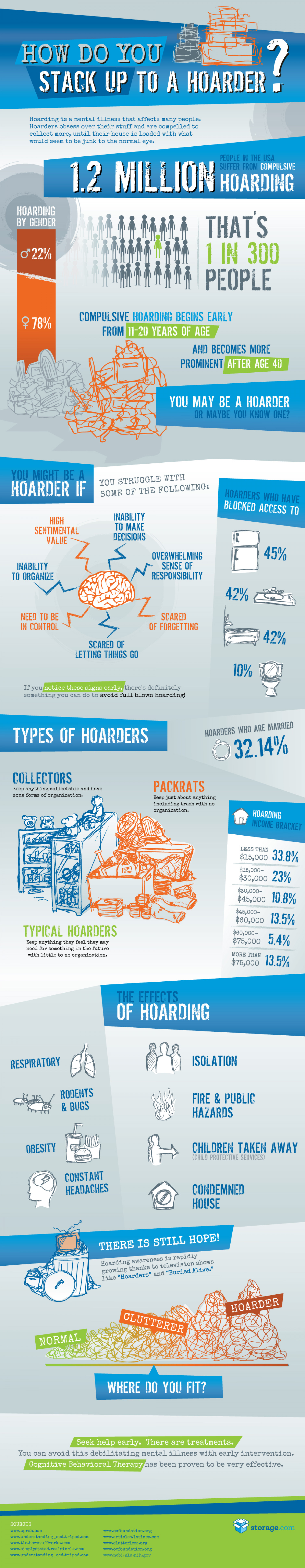 How Do You Stack Up to a Hoarder? Infographic