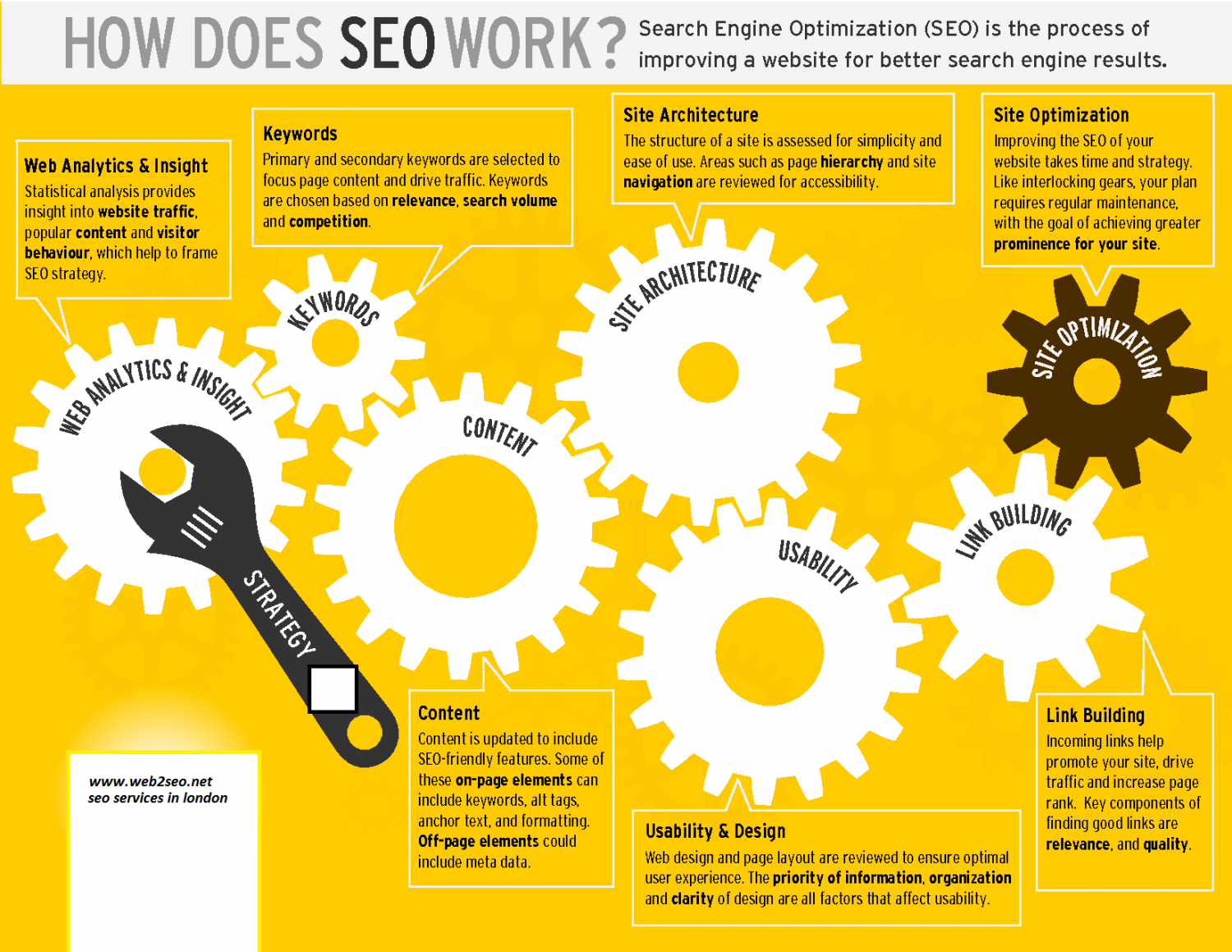 How Does SEO Work Infographic