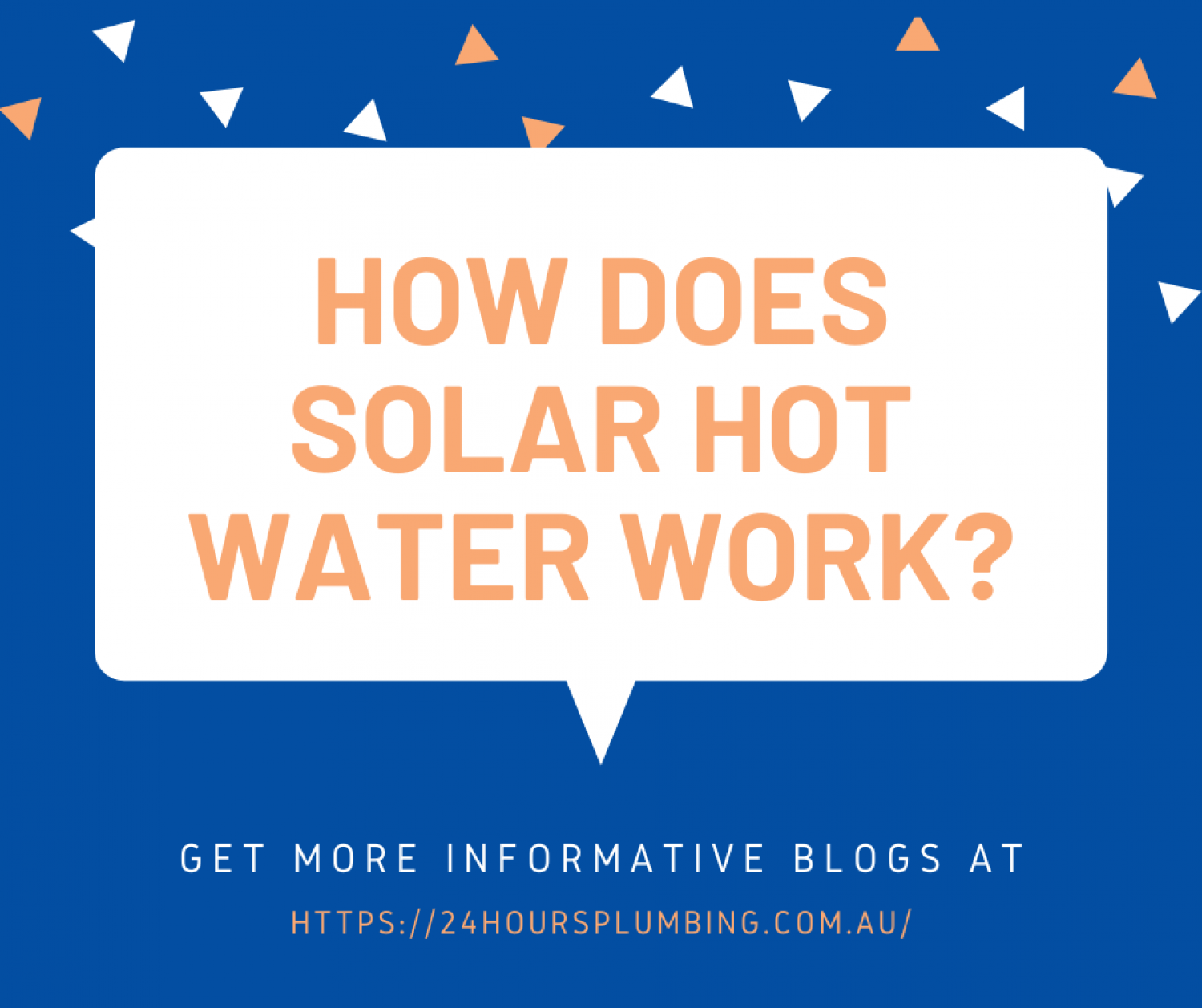 How Does Solar Hot Water Work? Infographic