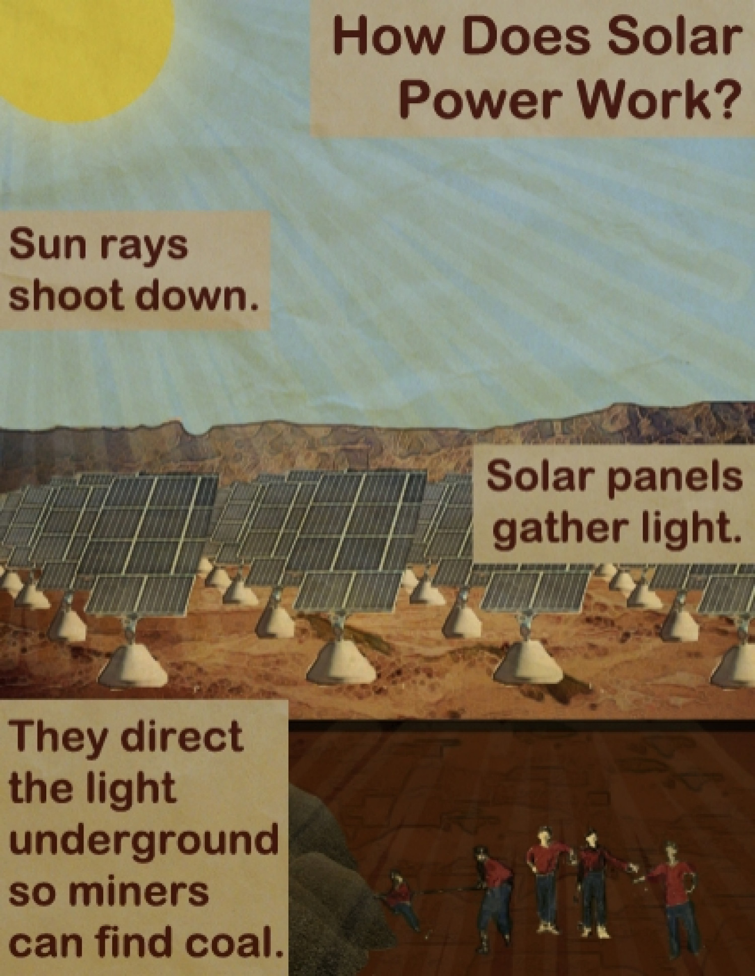 How Does Solar Power Work? Infographic