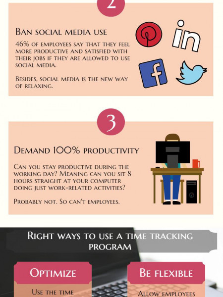 How does Time Tracking Program Affect Employee Satisfaction? Infographic