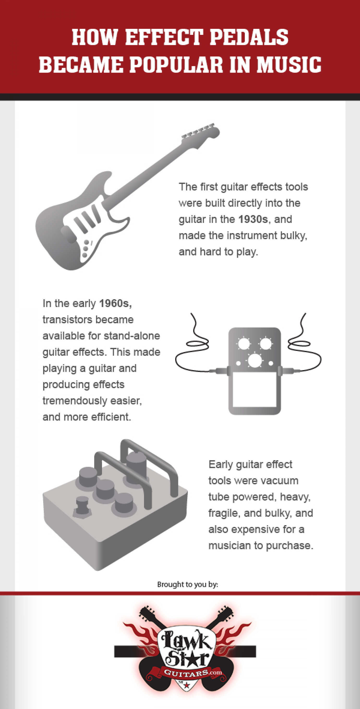 How Effect Pedals Became Popular In Music Infographic