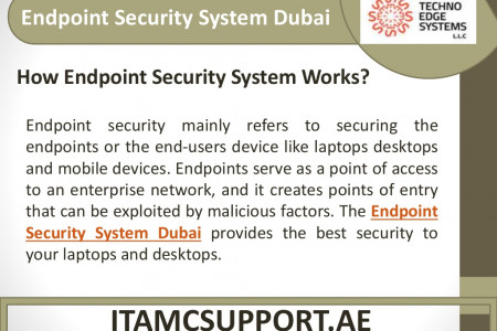 How Endpoint Security System and Solutions Works in Dubai Infographic