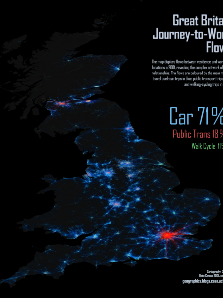 Great Britain Journey-to-Work Flows Infographic