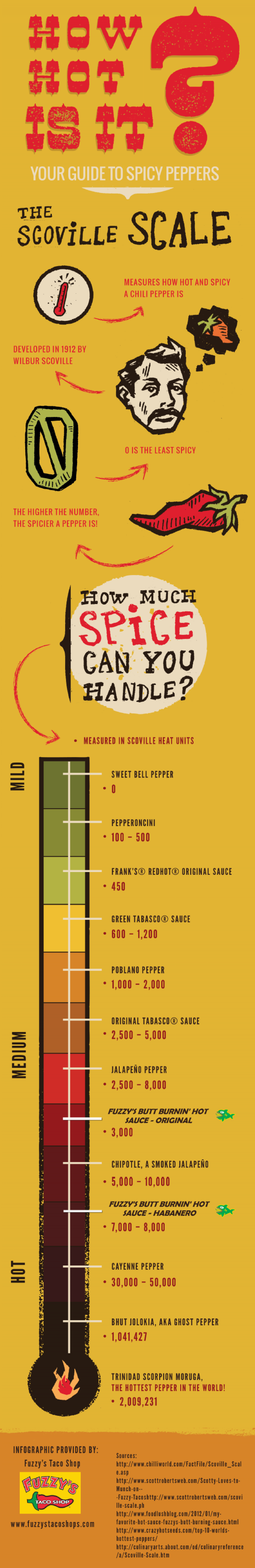 How Hot Is It? Your Guide to Spicy Peppers Infographic