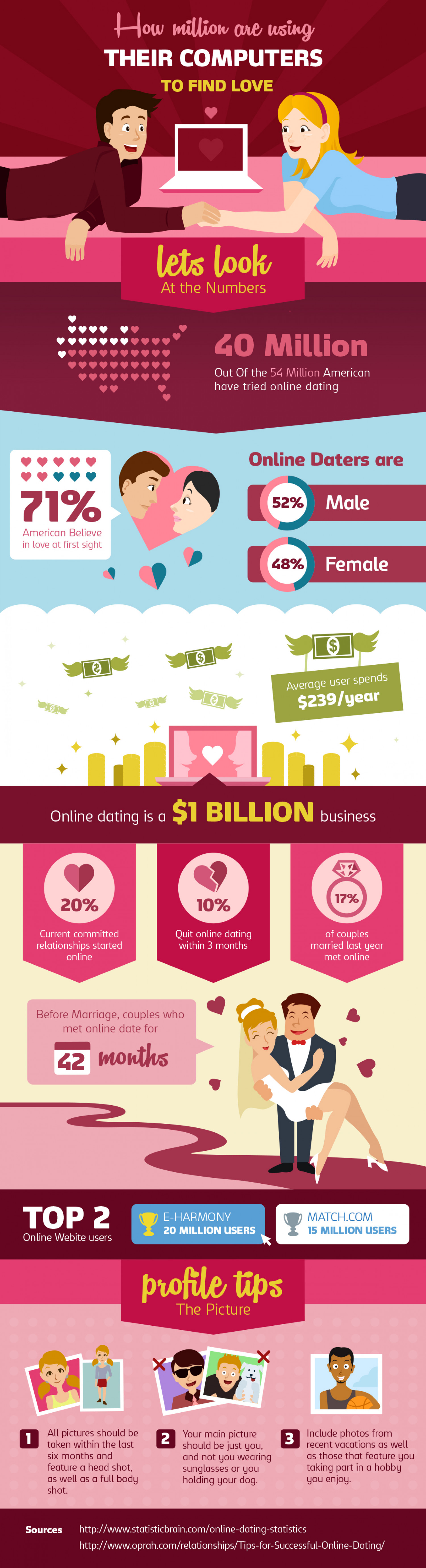 How million are using  computers to find love Infographic
