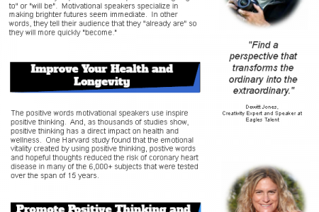 How Motivational Speakers Affect You Infographic