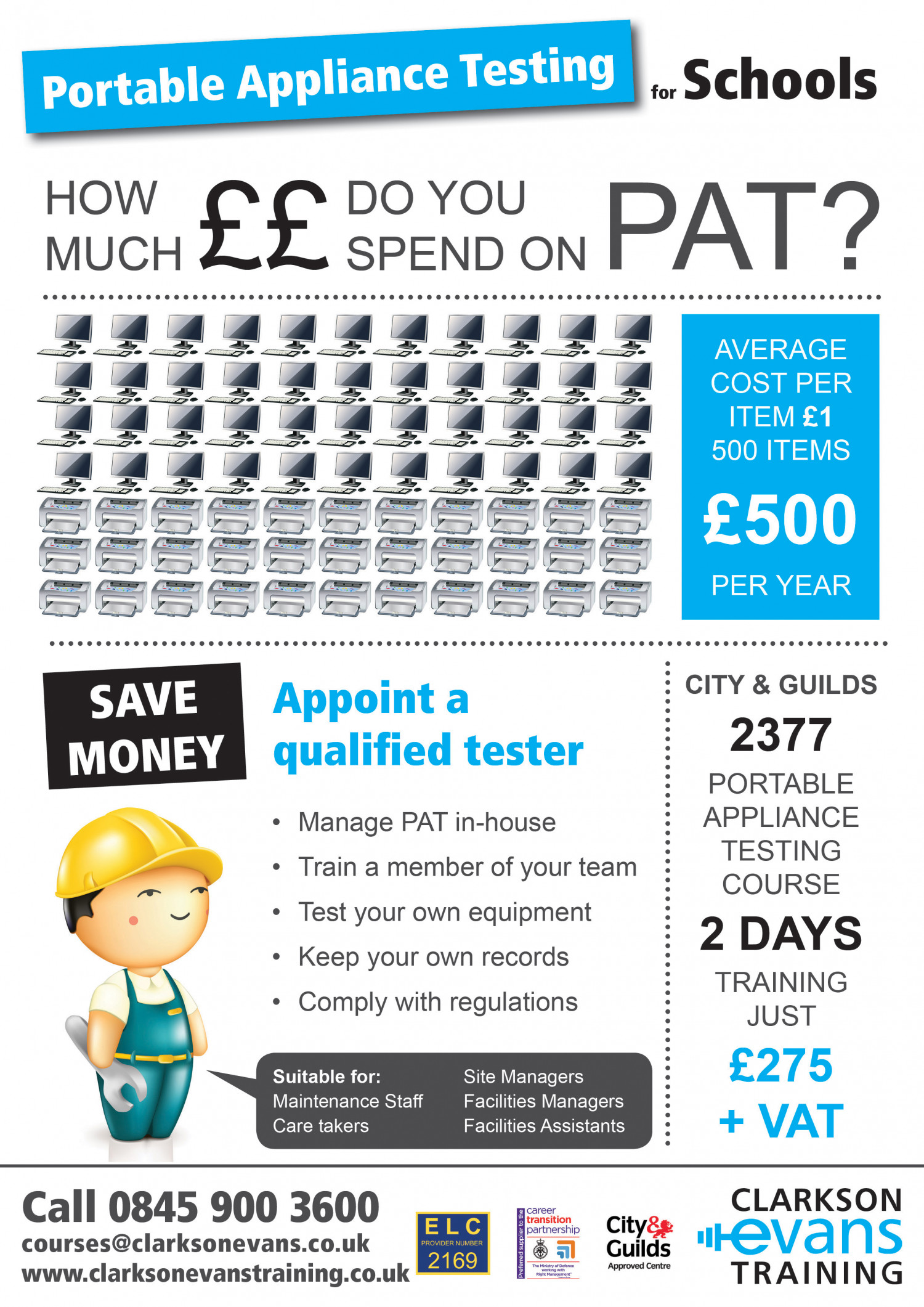 How much do you spend on Portable Appliance Testing? Infographic