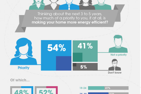 How much of a priority is making your home more energy efficient?  Infographic