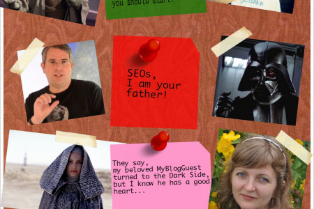 How online  marketing heroes would look like in the #StarWars world Infographic