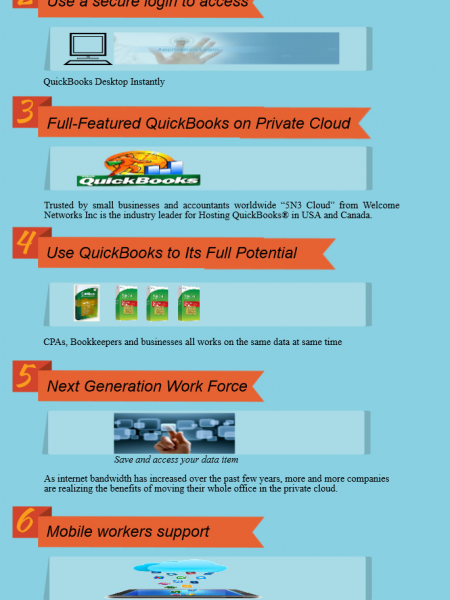 How QuickBooks on Cloud Works? Infographic