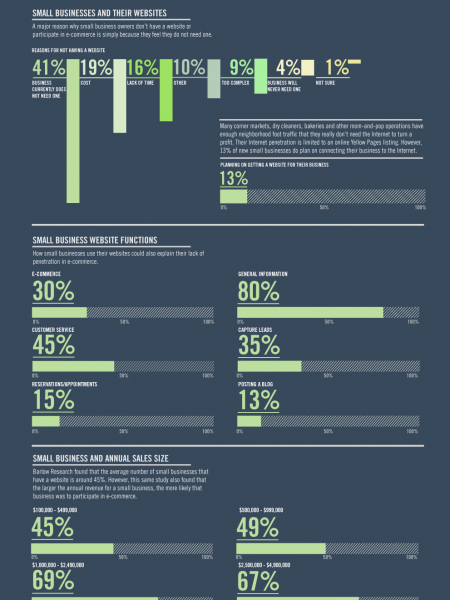 How Small Businesses Are Engaging in E-Commerce  Infographic