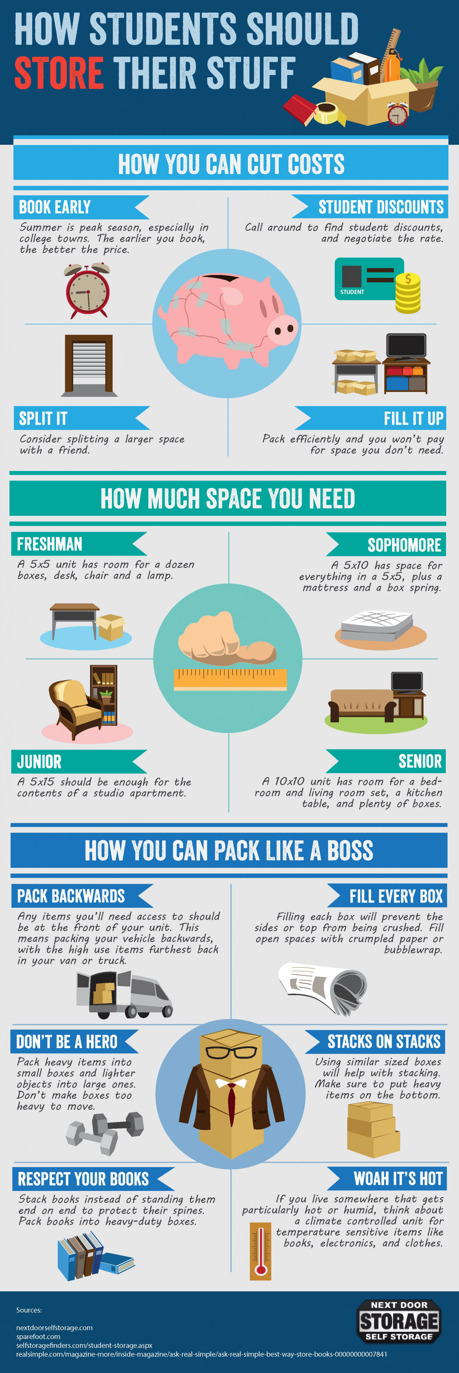 How Students Should Store Their Stuff Infographic