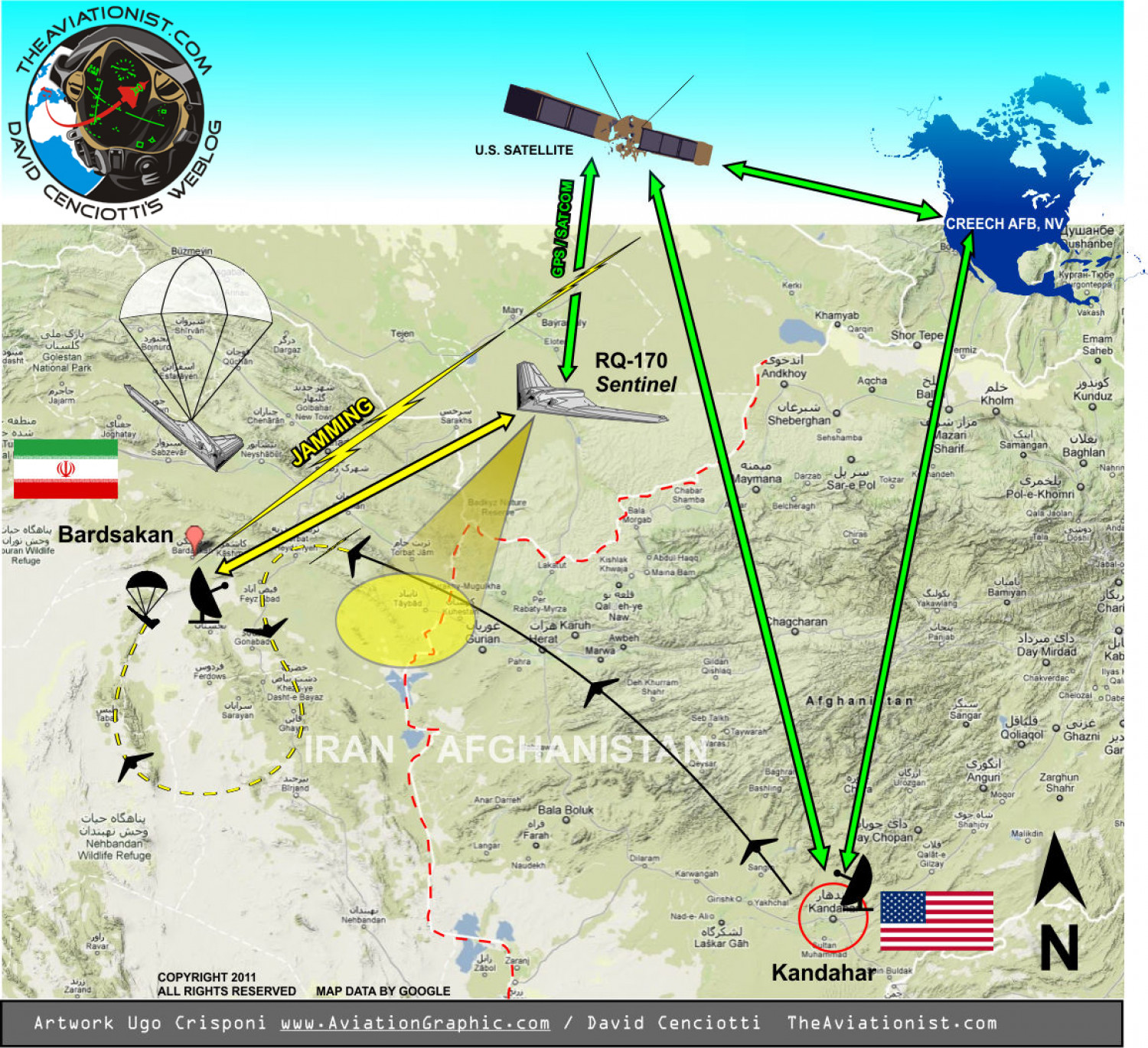 How the U.S. top secret stealth drone was captured by Iran Infographic
