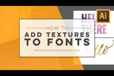 How to add watercolor or gold foil textures to your font | Tutorial  Infographic
