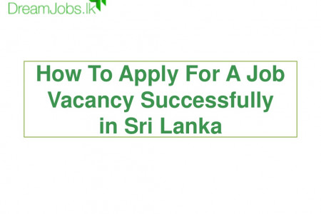 How to apply for a job vacancy successfully in sri lanka Infographic