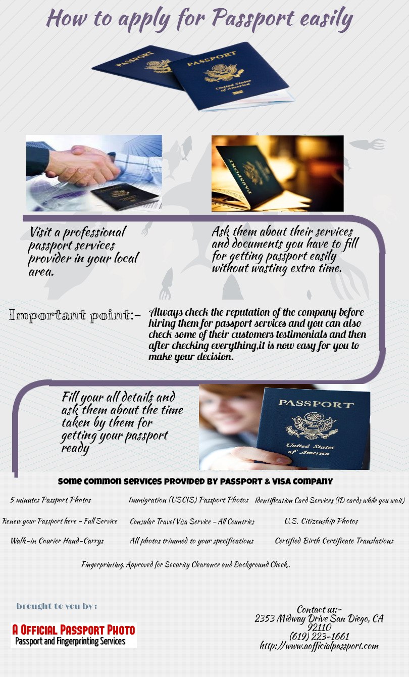 How To Apply For Passport Easily Visual How To Get A Passport Card In San  Diego