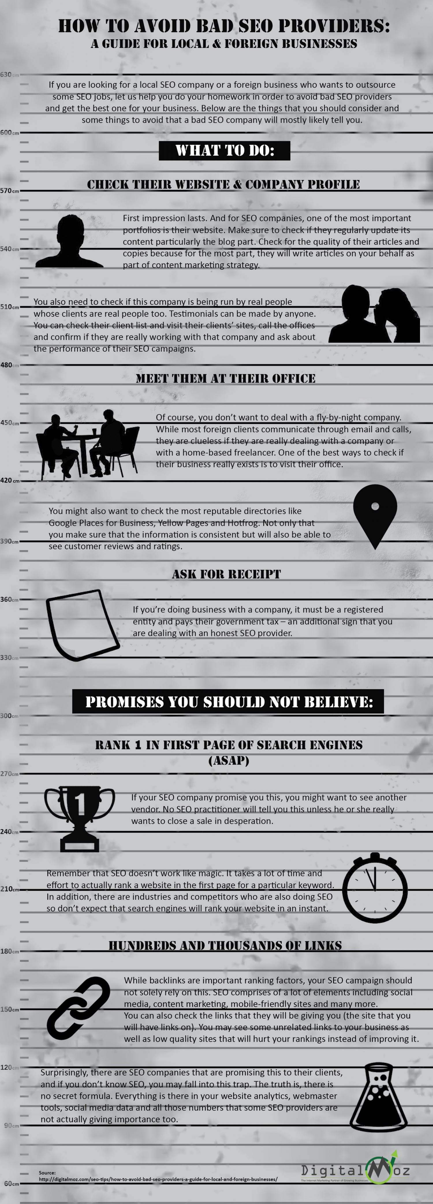 How To Avoid Bad SEO Providers: A Guide for Local & Foreign Businesses Infographic