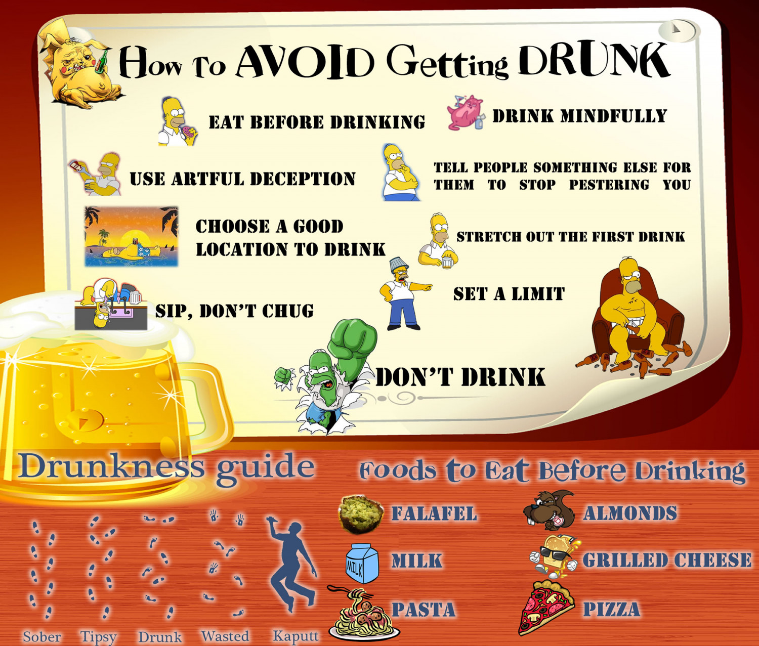 How to Avoid Getting Drunk Infographic