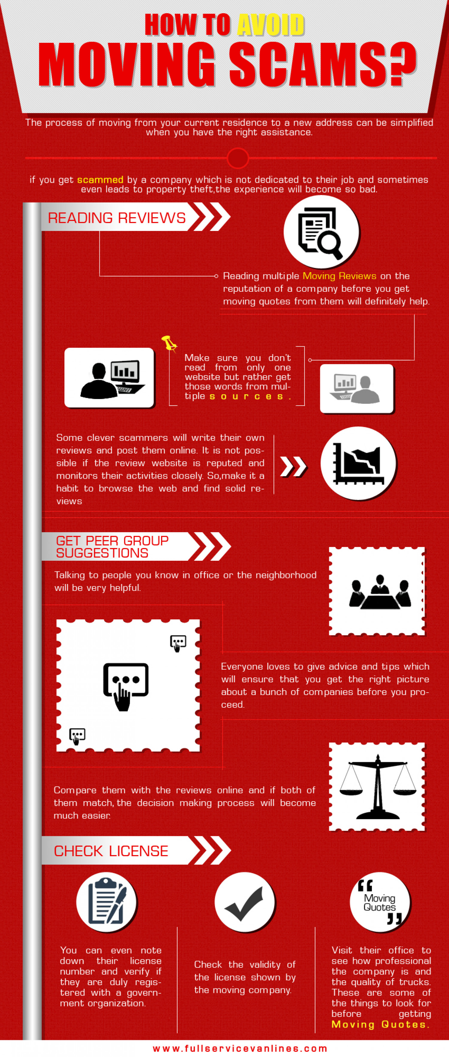 How to Avoid Moving Scams? Infographic