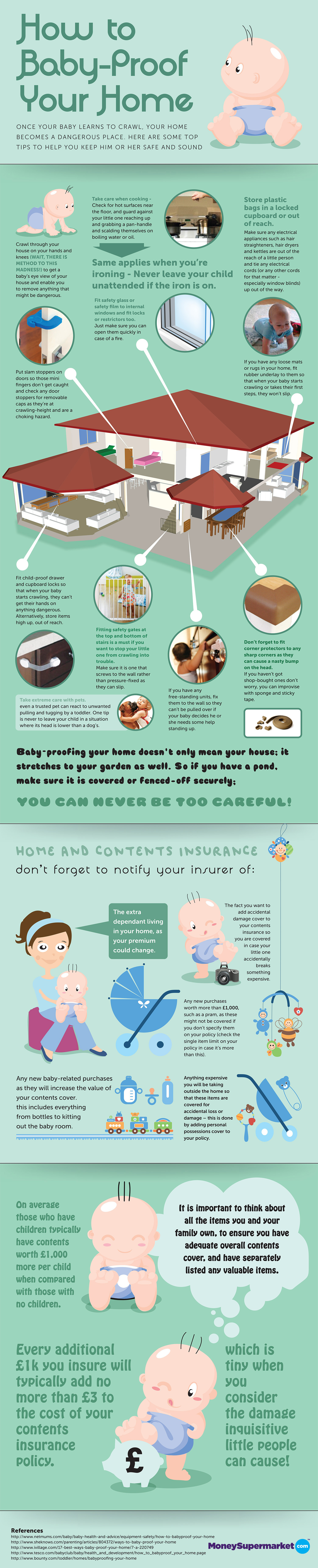 How to Baby-Proof Your Home Infographic