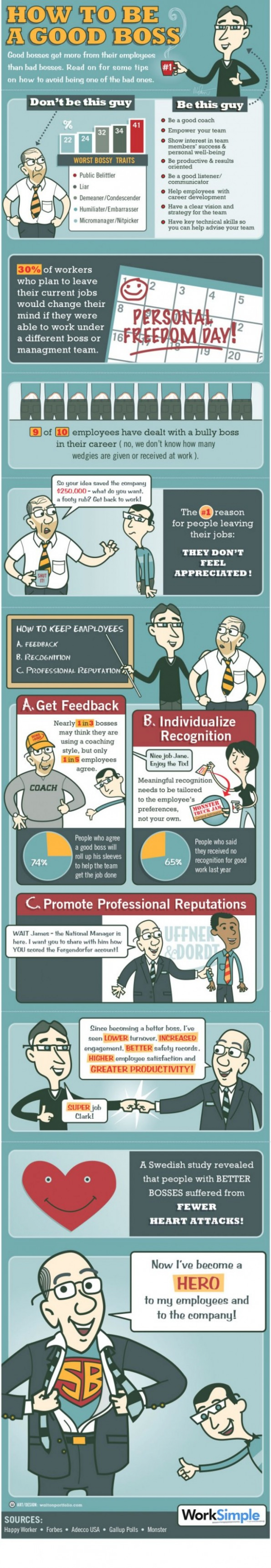 How to be a Good Boss Infographic