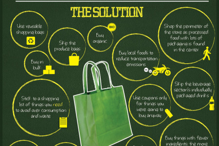 How to Be a Green Grocery Shopper Infographic
