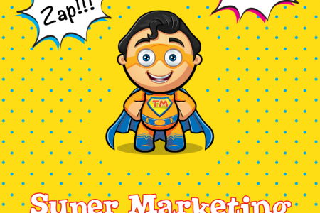 How to be an SMS Super-Marketing-Hero Infographic