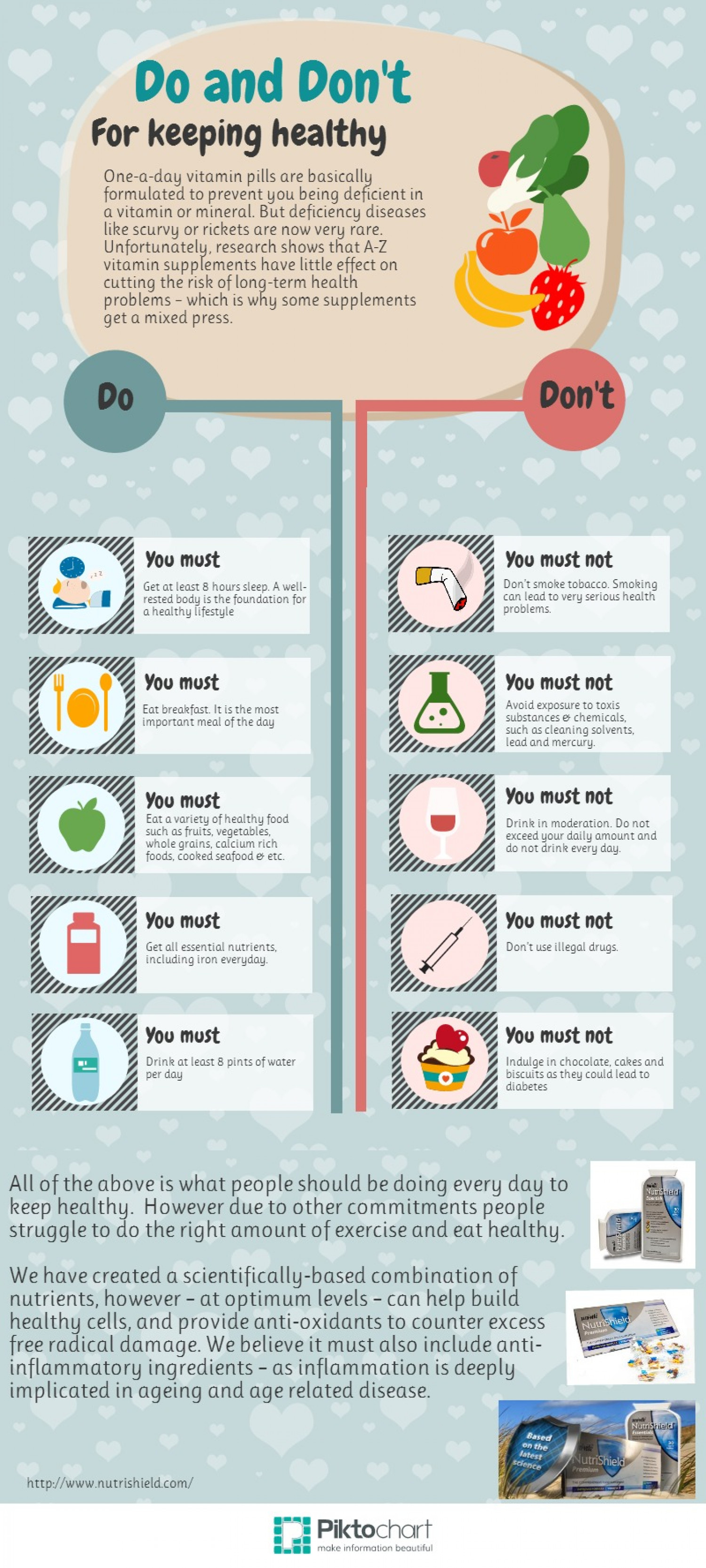 How to be healthy Infographic