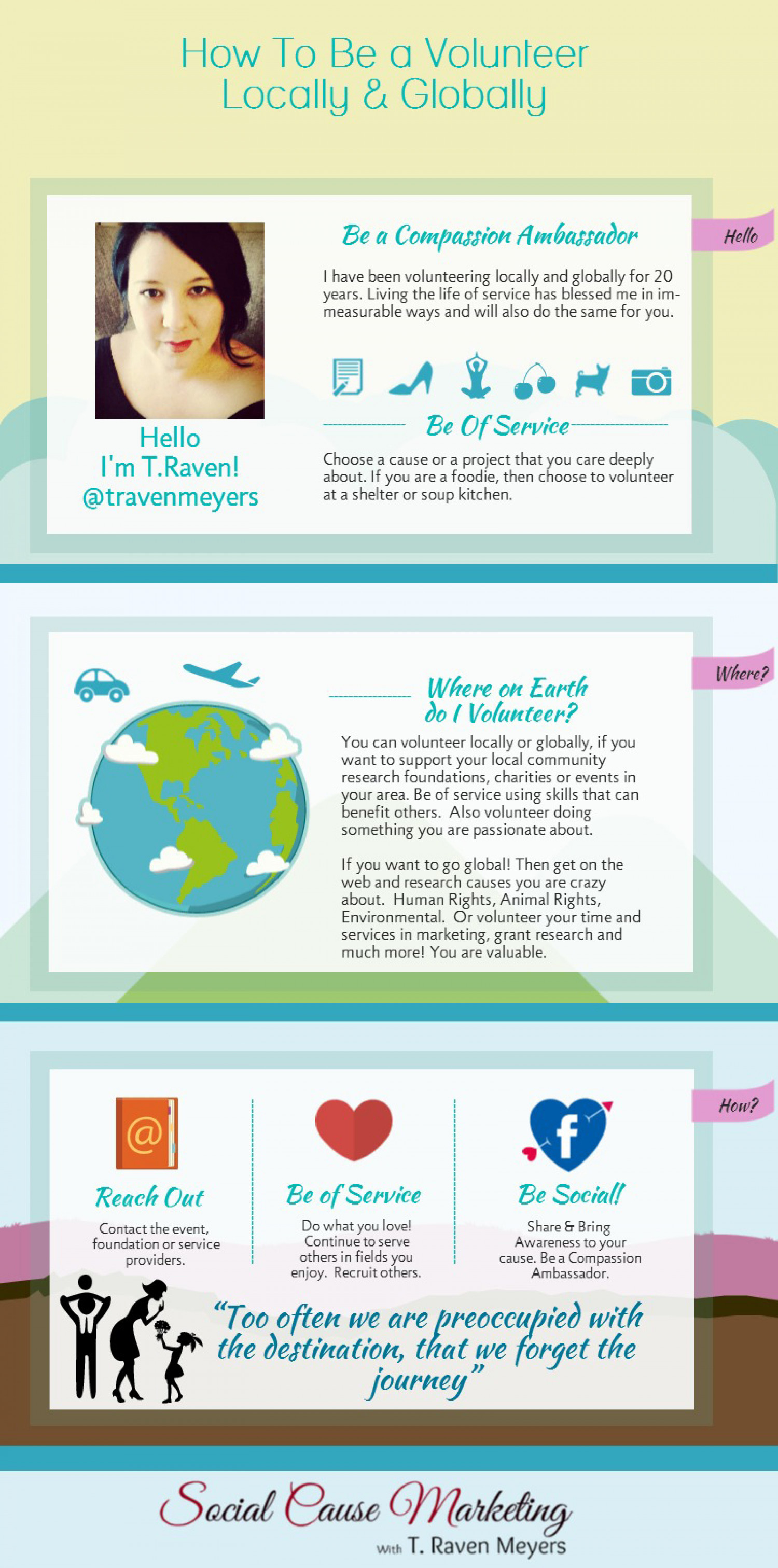 How to Become a Volunteer Locally & Globally Infographic
