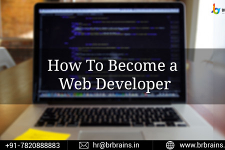 How To Become a Web Developer Infographic