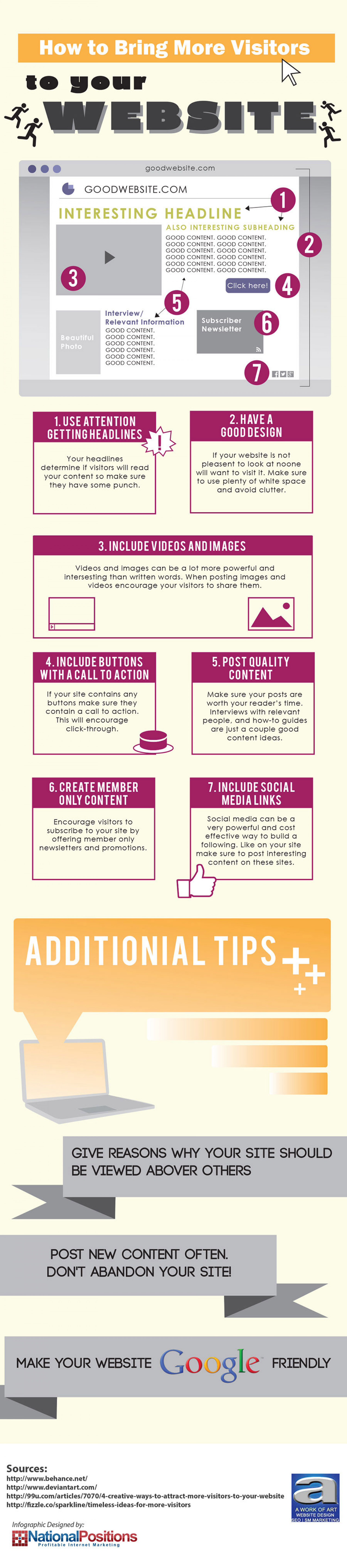 How to Bring More Visitors to Your Website Infographic