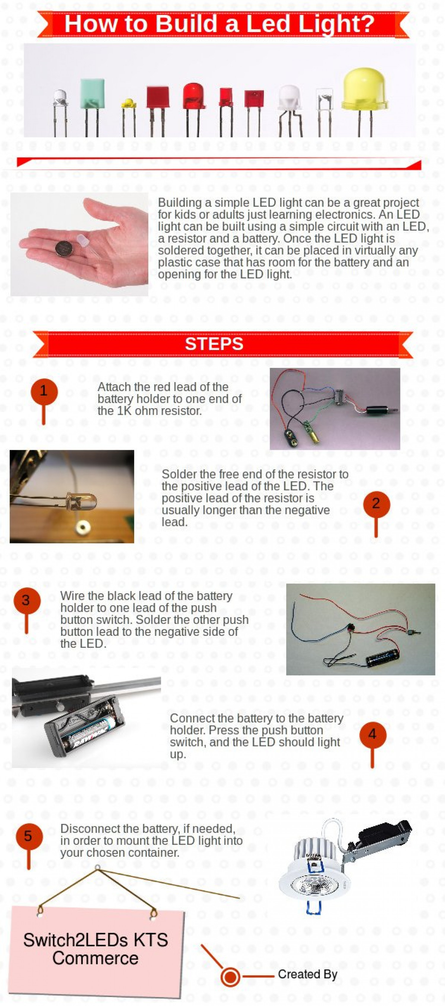How to Build a LED Light? Infographic