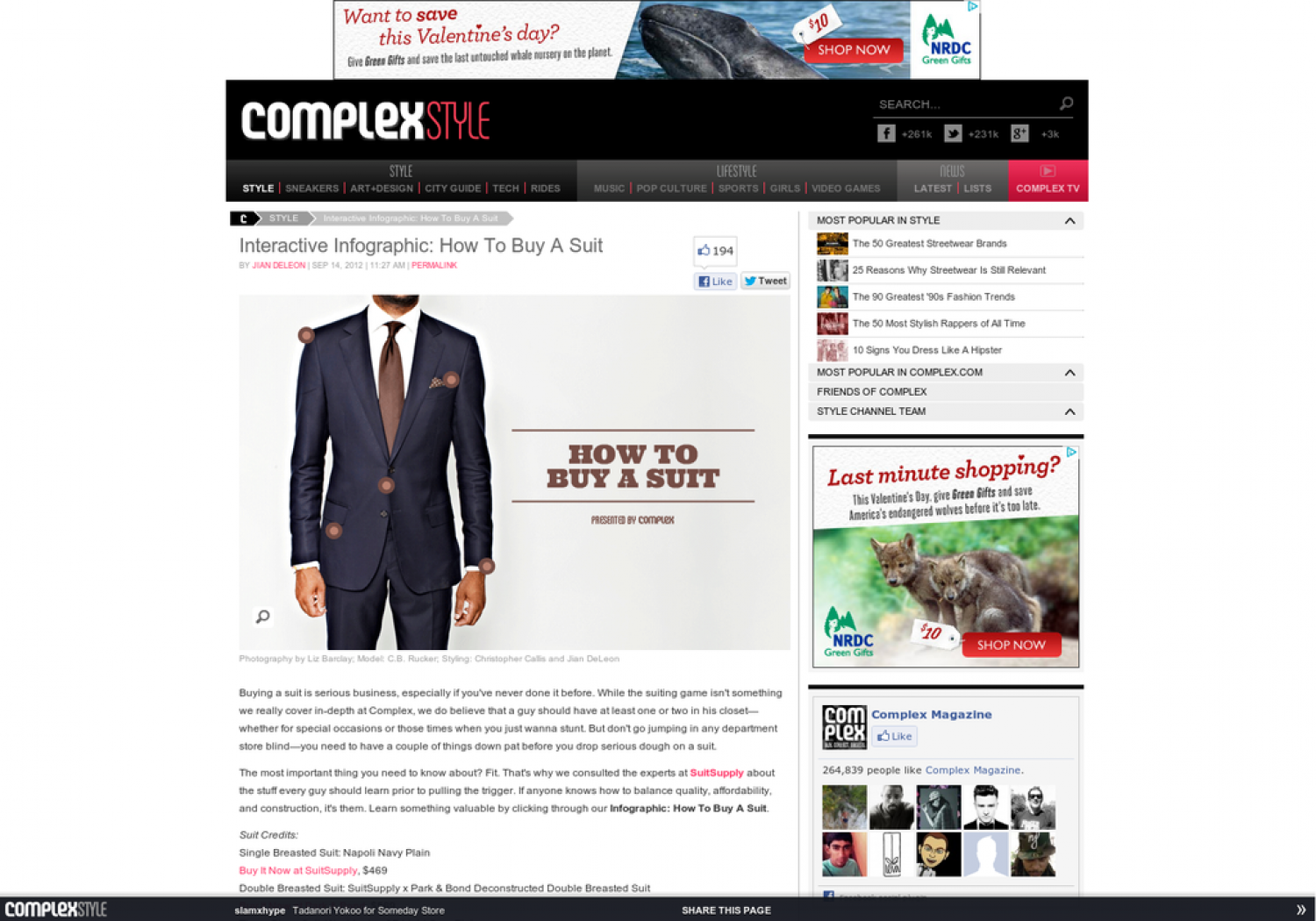 How to Buy a Suit Infographic