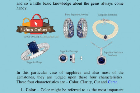 How to buy Sapphires Jewelry Online? Infographic