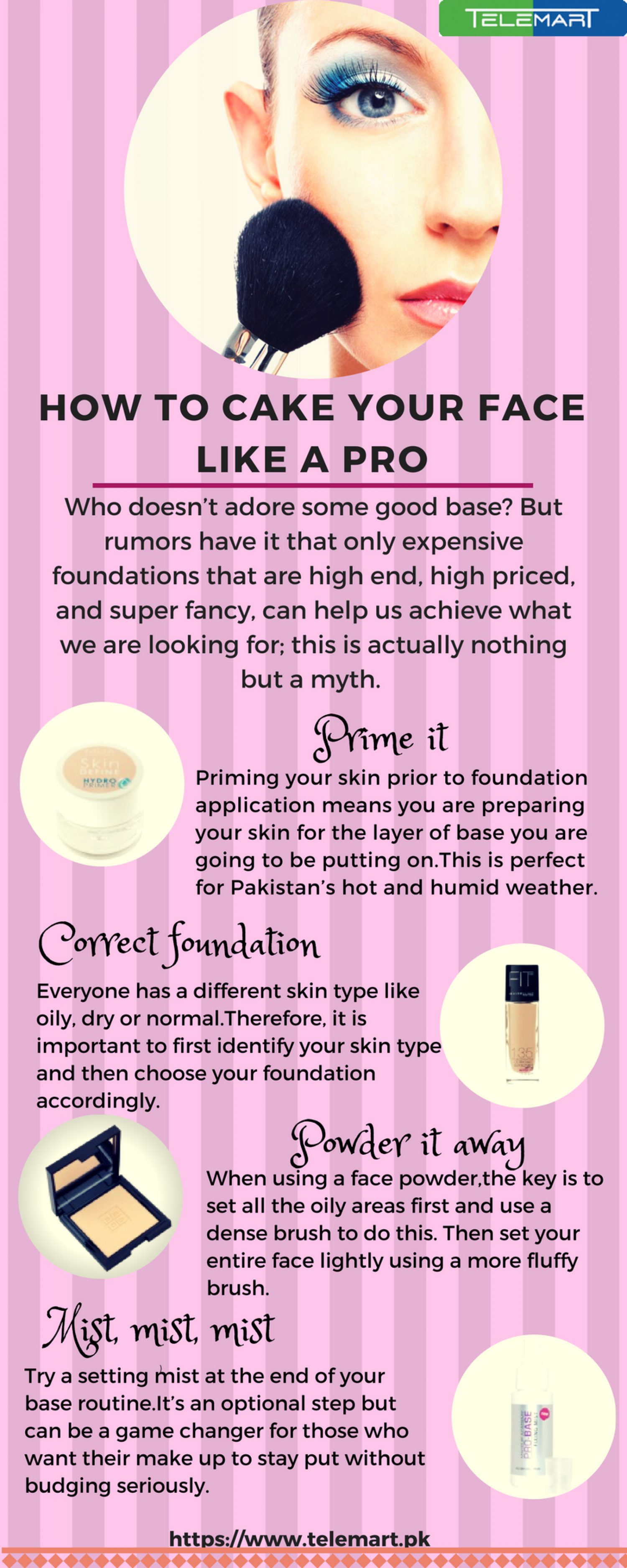 How to Cake Your Face like a Pro Infographic