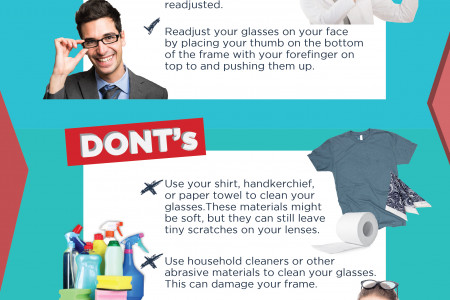 How to Care for Your Eyeglasses and Sunglasses Infographic