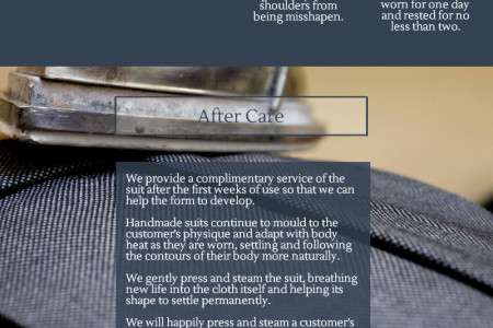 How to Care for your Tailored Suit Infographic