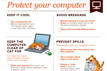 How to Cat-Proof Your Computer Infographic